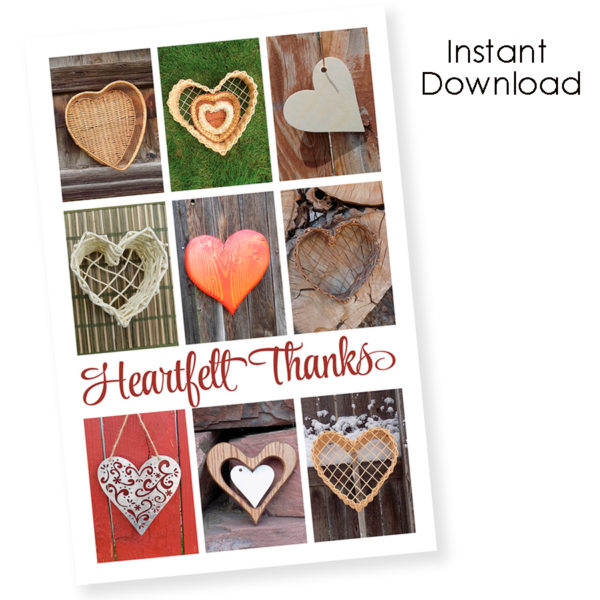 Thank-you greeting card