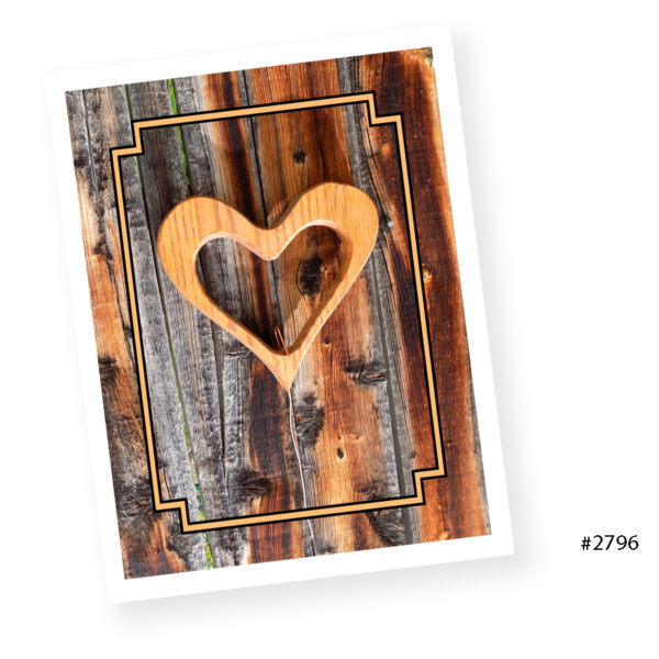Heart frame card